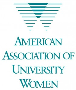 "A picture of a logo that reads ""American Assoc. of University Women"""